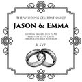Wedding Rings Bands Wedding Invitation Template
