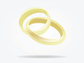 Wedding rings conected Royalty Free Stock Photo