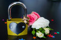 Wedding rings on a lock Royalty Free Stock Photo