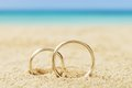 Wedding Rings On Sand