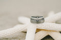 Wedding Ring Starfish Royalty Free Stock Photo