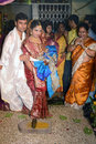 Wedding rituals bengali bride and groom with relatives during the marriage at kolkata Stock Photo