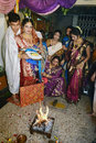 Wedding rituals bengali bride and groom with relatives during the marriage at kolkata Stock Images