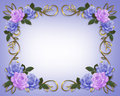 Wedding Roses Border Blue and Lavender Royalty Free Stock Photo