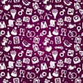 Wedding seamless pattern Royalty Free Stock Photos