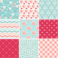Wedding seamless patterns set collection romance love and theme Stock Image