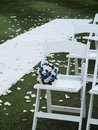 Wedding seats and bouquet Royalty Free Stock Photo