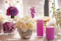 Wedding serving table decoration Royalty Free Stock Photo