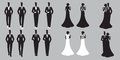 Wedding Set card - Just Married