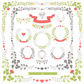 Wedding set retro floral items.Vector Design template Royalty Free Stock Photo