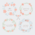 Wedding set romantic with cute and tender flowers Stock Photo