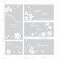 Wedding set with tender white flowers Royalty Free Stock Photos