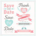 Wedding set. Vector illustration. Royalty Free Stock Photo