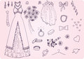 Wedding set vector sketchy nice Stock Image