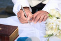 Wedding signing Royalty Free Stock Photo