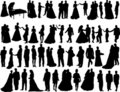 Wedding silhouettes Stock Photography