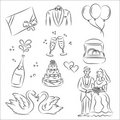 Wedding Sketch Set Royalty Free Stock Photography