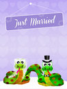 Wedding of snakes illustration Royalty Free Stock Photography