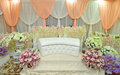 The wedding stage simple and beautiful for solemnization Stock Photography