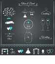Wedding stationary design elements and icons Royalty Free Stock Images