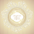 Wedding or sweet frame with pearls petals and lace Royalty Free Stock Photo