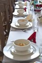 Wedding table beautiful and elegant settings Royalty Free Stock Photography