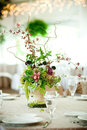 Wedding table centerpiece Royalty Free Stock Photos