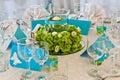Beautiful wedding table decoration Royalty Free Stock Photo