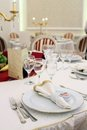 Wedding table details Royalty Free Stock Photo