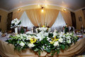 Wedding table with flowers Royalty Free Stock Photo
