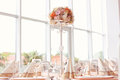 Wedding table with ornaments Royalty Free Stock Photo