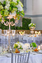 Wedding Table Preparations Royalty Free Stock Photo