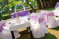 Wedding table ready for guests and the party Royalty Free Stock Photos