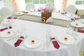 Wedding table serving the and chairs Royalty Free Stock Photos