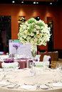 Wedding table set dining Stock Photo