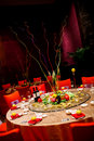 Wedding table set dining Stock Images