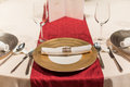 Wedding table set dining Royalty Free Stock Images