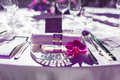 Wedding table set for dining Royalty Free Stock Images