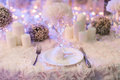 Wedding table set for dining Royalty Free Stock Image