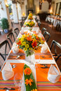 Wedding table set for dining Stock Image