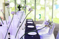 Wedding table set for dining indoor scene Royalty Free Stock Image
