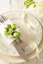 Wedding table setting festive decoration Royalty Free Stock Photo
