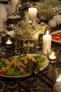 Wedding party table setting Royalty Free Stock Photo