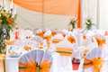 Wedding tables Royalty Free Stock Photos