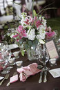 Wedding tables set for fine dining Royalty Free Stock Photo