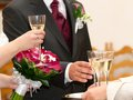 A wedding toast Stock Images