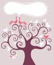 Wedding tree illustration of a Royalty Free Stock Photography