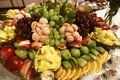 Wedding various fresh fruits and berries with tasty colour on a buffet table, a pile of fruit on a tray Royalty Free Stock Photo
