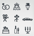 Wedding vector icon set Royalty Free Stock Photos