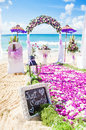 Wedding venue on a beach Stock Photos